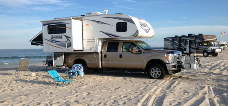 Hot Weather Camping On Beach