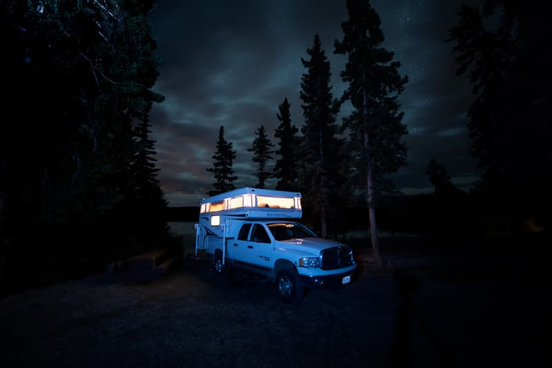 lake-in-Canada-glow-truck-camper