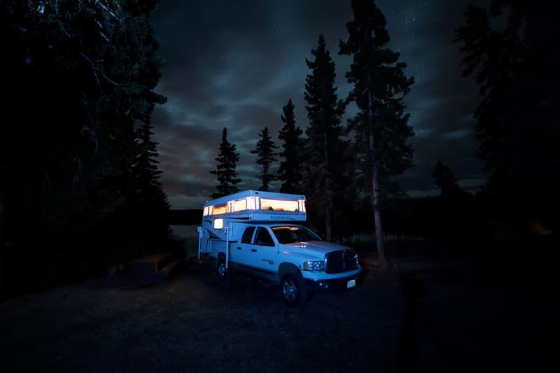 lake-in-Canada-glow-truck-camper