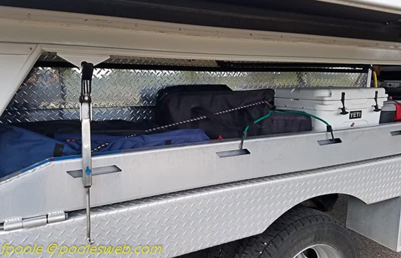 lock camper stuff in storage area