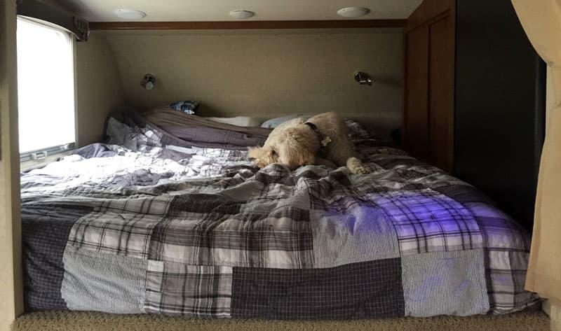 Making a truck camper bed