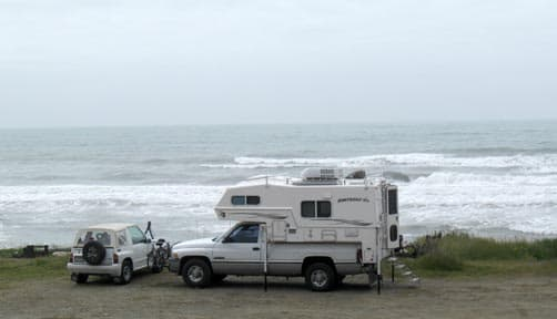Beach Camping with Northern Lite Camper