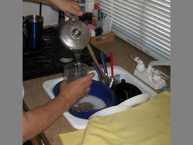 Use stove top to heat water