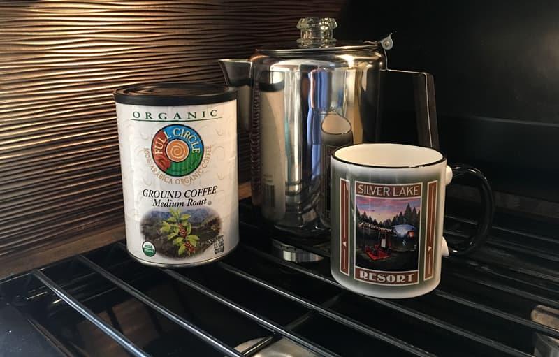 Metal Percolator Camper Coffee
