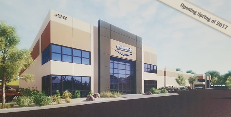 New Lance Camper Building in Lancaster, California