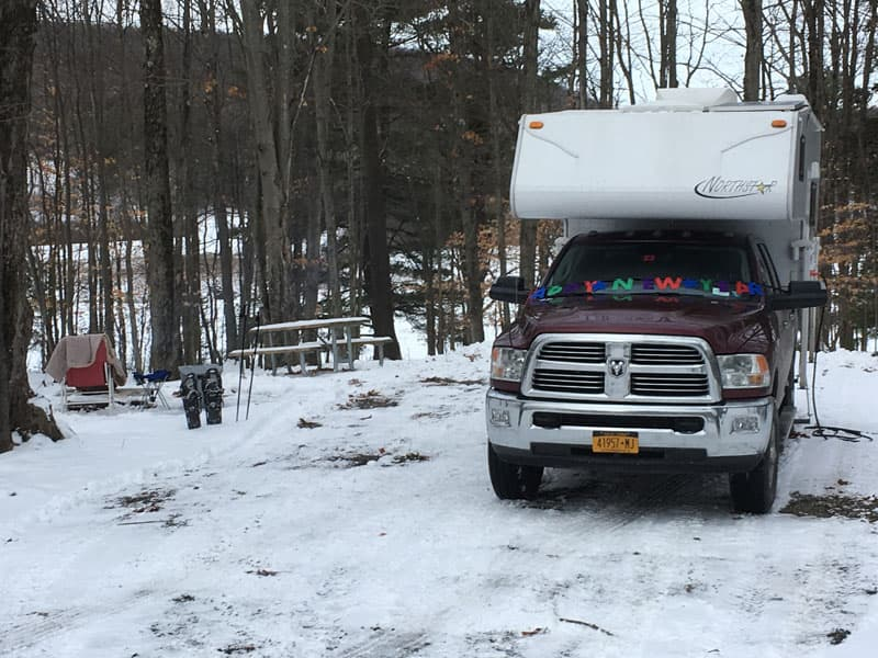 Snow camping Northstar Camper