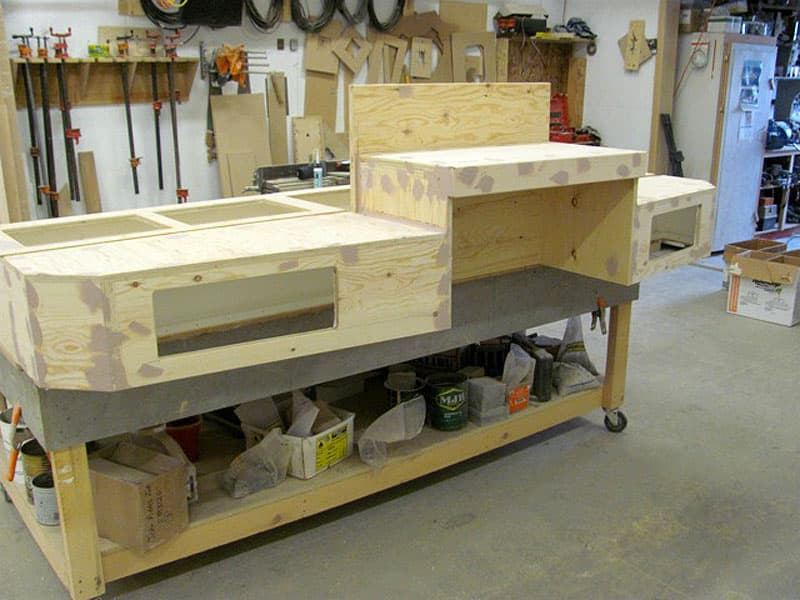plywood step system construction
