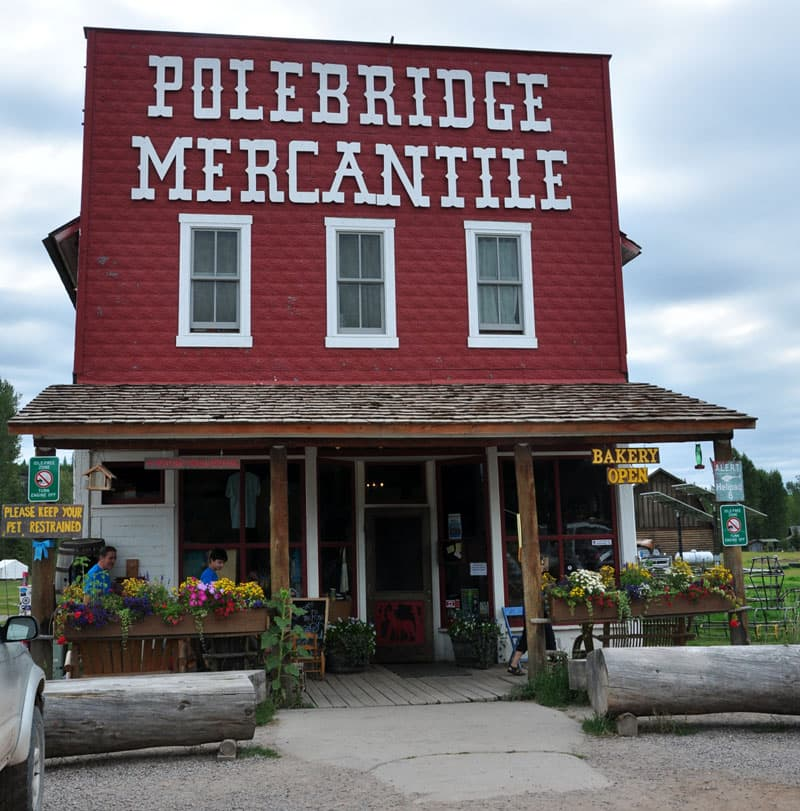 Polebridge Mercantile bakery in Glacier Montana