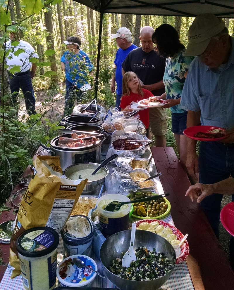 Potluck dinner at NATCOA rally