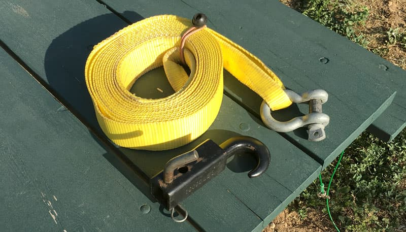 Recovery strap for a winch