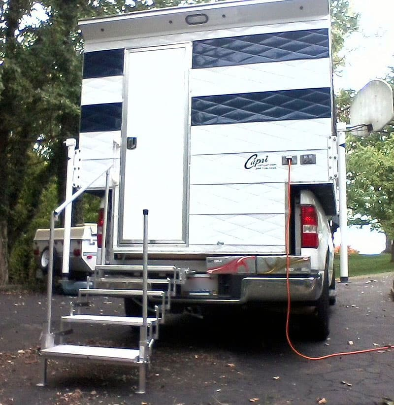 RV-Co Steps for truck camper