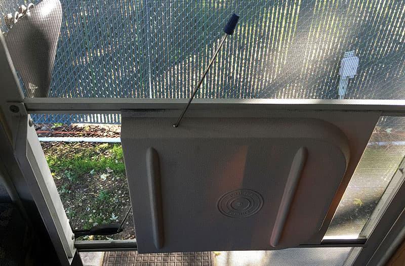 Camper screen door opener