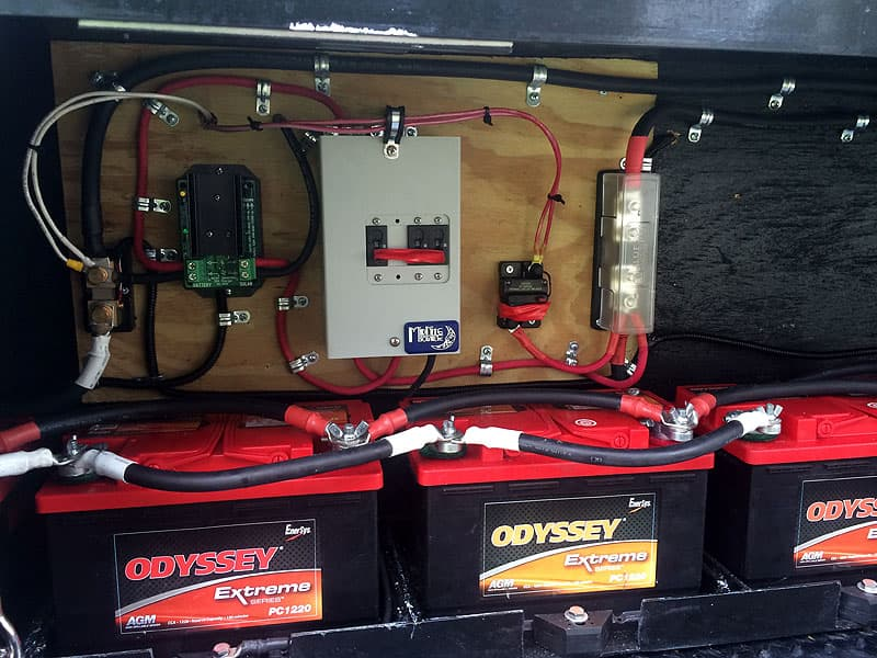 Battery bank in Alaskan Camper