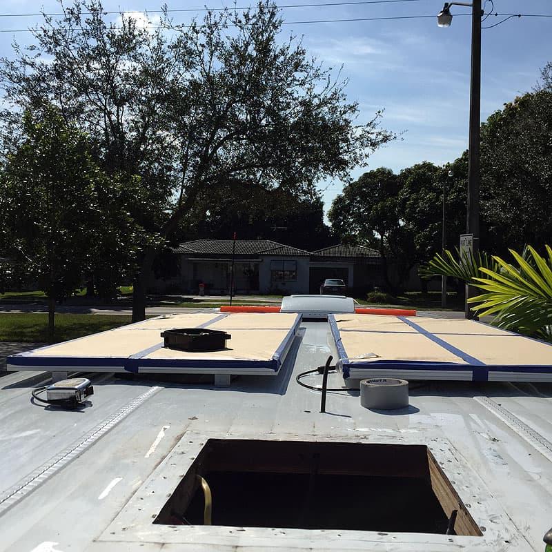 solar panels covered