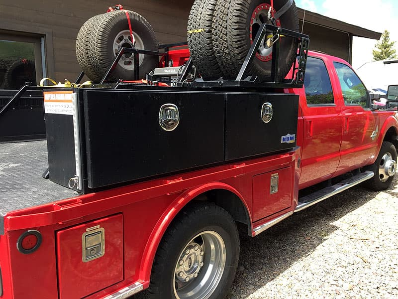 storage bed with tires