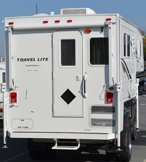 Travel Lite 1000SLRX Ultra rear with awning