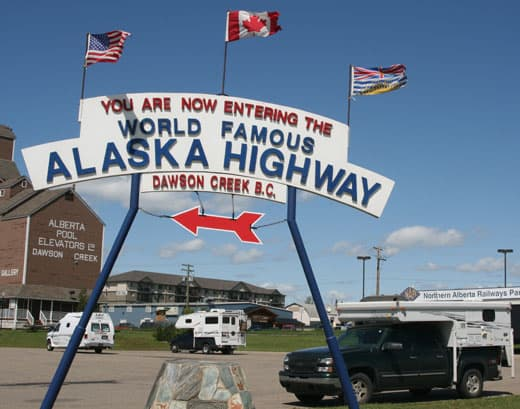 Alaska-Cannonball-Dawson-Creek-BC-Mile-Post-0