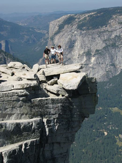 On top of Half Dome in Yosemite National Park, California