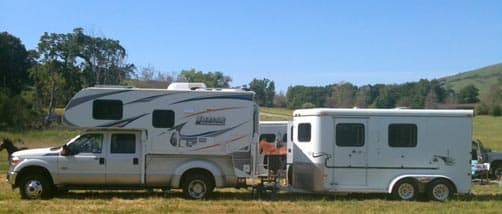 Maiden Voyage with their Lance 850 and horse trailer