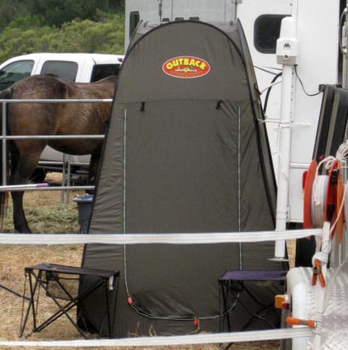 Outback shower tent