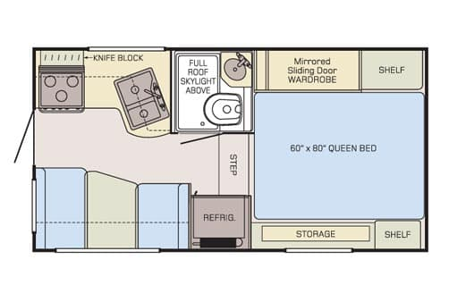 Adventurer 86FB floorplan