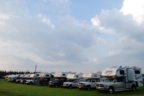 Truck Campers at the Rally