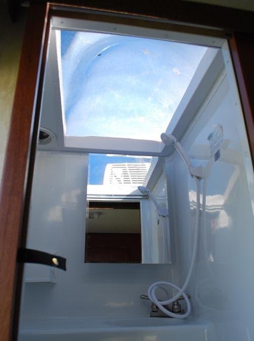 Wolf Creek 850 shower skylight