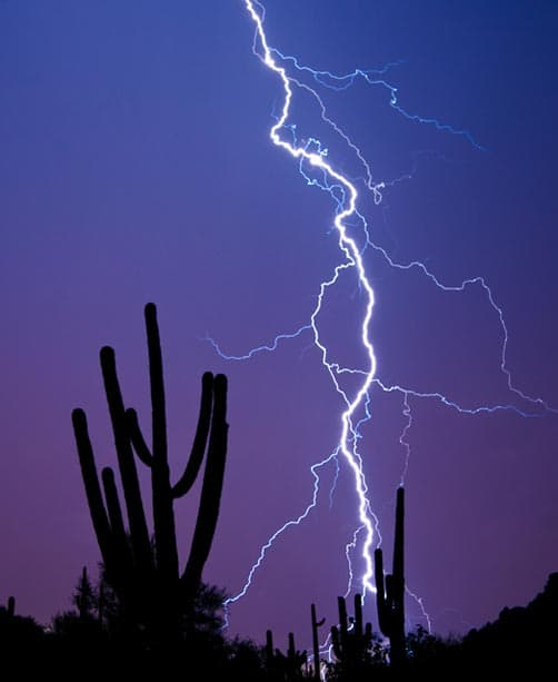 Desert summer monsoon storms are violent and ephemeral