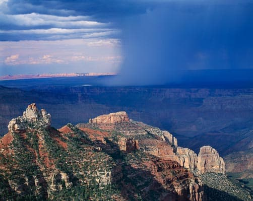 North Rim of the Grand Canyon storm