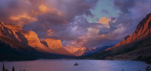 Glacier National Park's Wild Goose Island on St. Mary's Lake, Montana