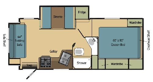 2012 Eagle Cap 1160 Floorplan