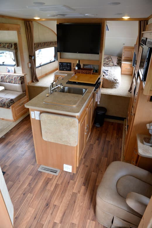 Big Rigs For Sale >> Chalet RV TS116 Triple-Slide Truck Camper Washer-Dryer Prototype