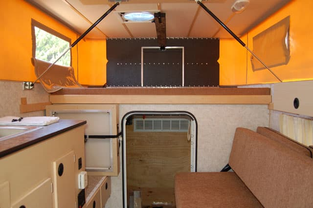 Survivor Truck interior front. The Survivor Truck Bug Out Vehicle