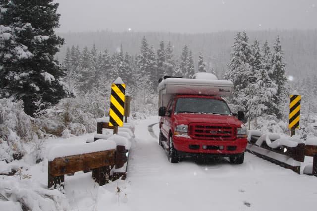 Milner Winter Camping Camp Dick Colorado