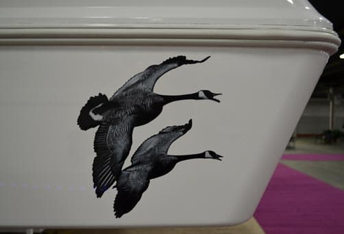 Northern Lite Dry Bath 3D Geese decal