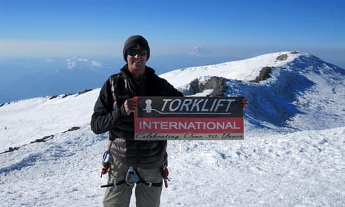 Torklift sign on Mt. Everest
