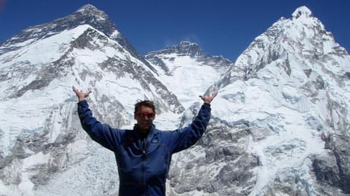 Greg Vernovage on Mt. Everest