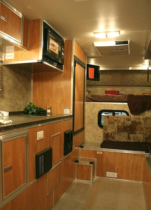 Azdel in CampLite camper Kitchen