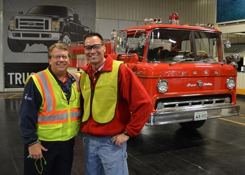 Todd Ashton and Tim Sanders first Ford Fire truck