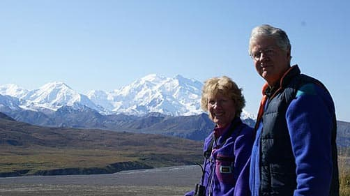 Alice and Rick at Mt. McKinley, Alaska