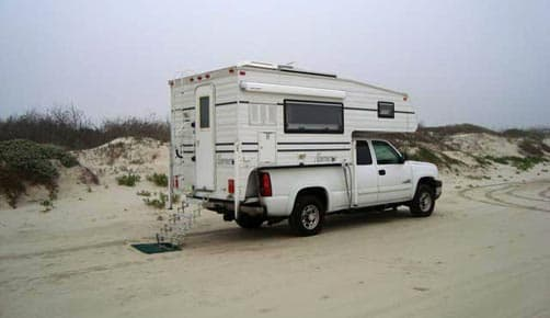 Beaching Camping in Port Aransas, Texas
