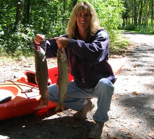 Lori Miller's fishing catch