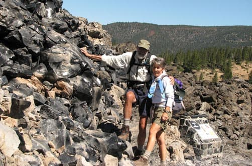 Obsidian flow at Newberry Volcanic National Monument