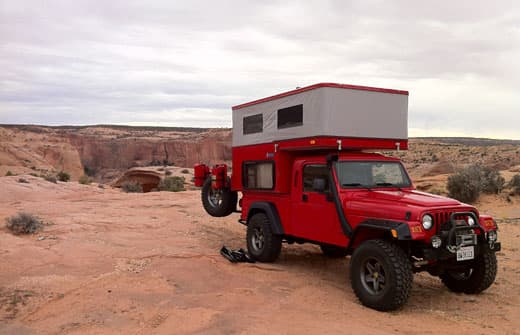 Aev Jeep Brute And Four Wheel Camper Sparrow Jeep Truck