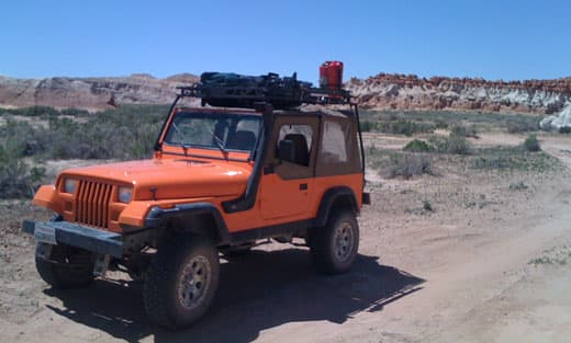 Jeep Wrangler camping