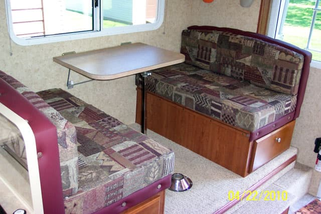 Making Truck Camper Seating More Comfortable