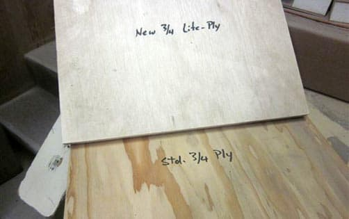 Lite Ply samples