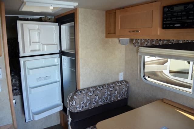 2012 Adventurer 86FB refrigerator