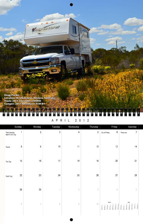 Truck Camper Magazine Calendar April
