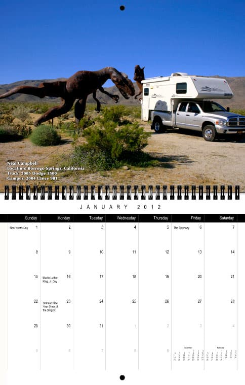 Truck Camper Magazine Calendar January